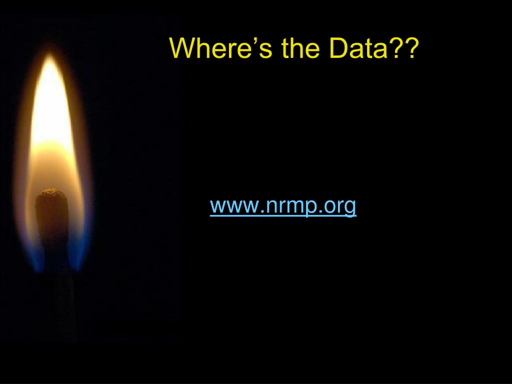 Where's the Data??