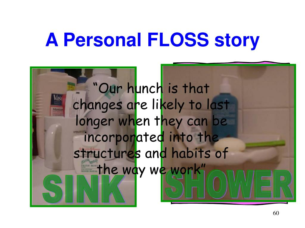 A Personal FLOSS story