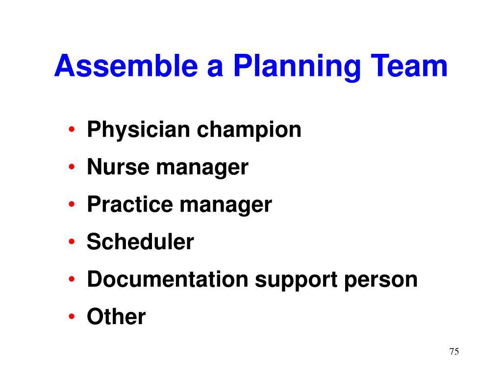 Assemble a Planning Team