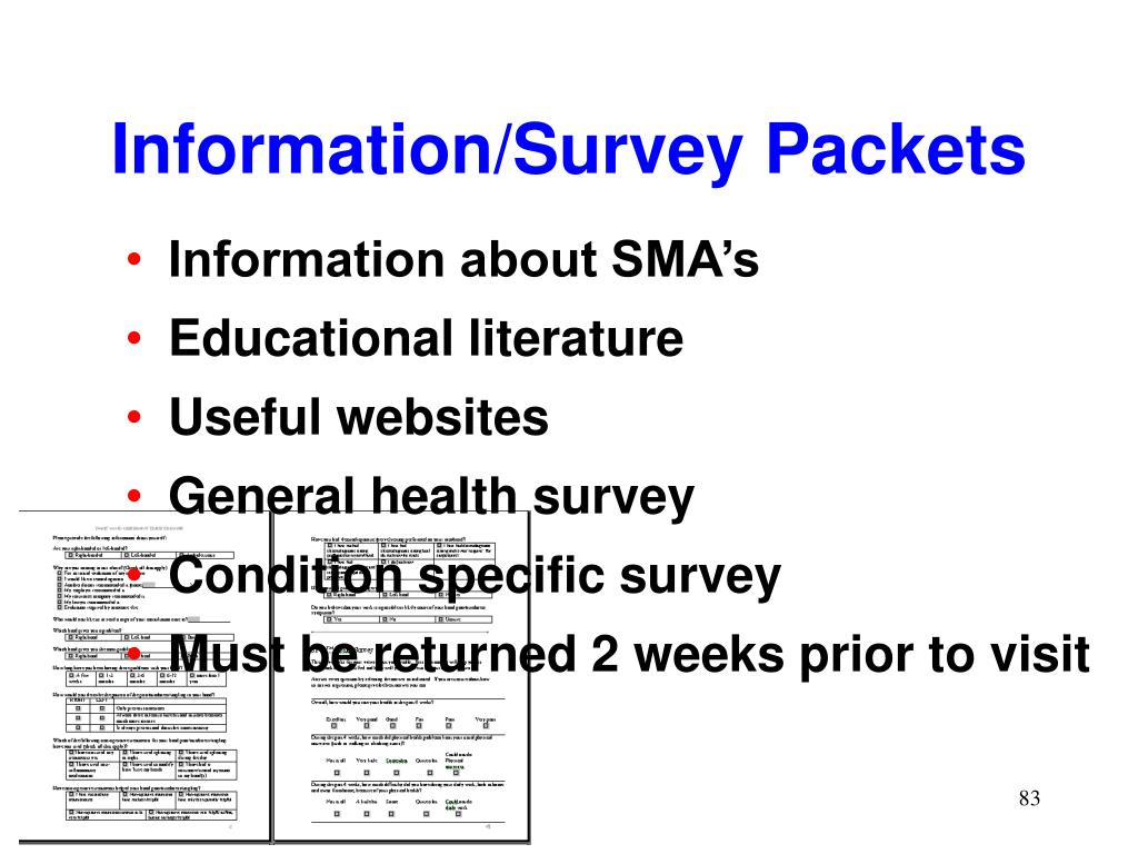 Information/Survey Packets