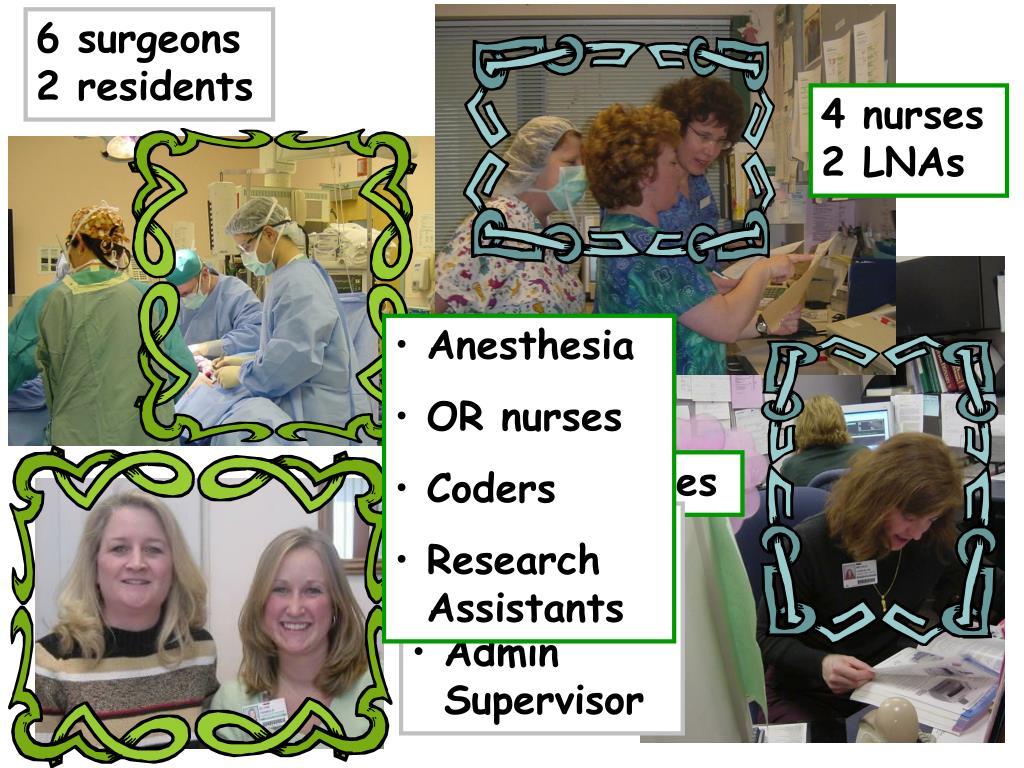 6 surgeons 2 residents