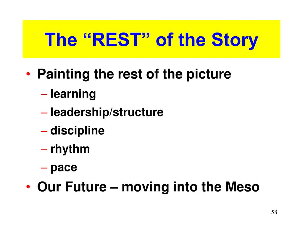 """The """"REST"""" of the Story"""