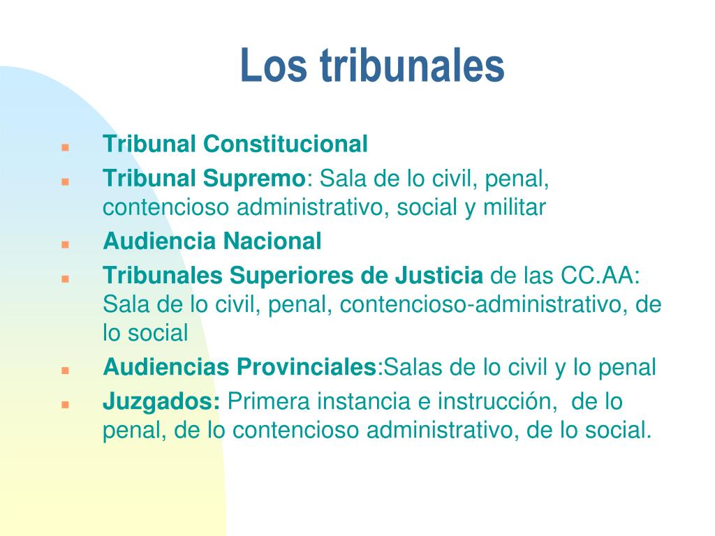 Los tribunales