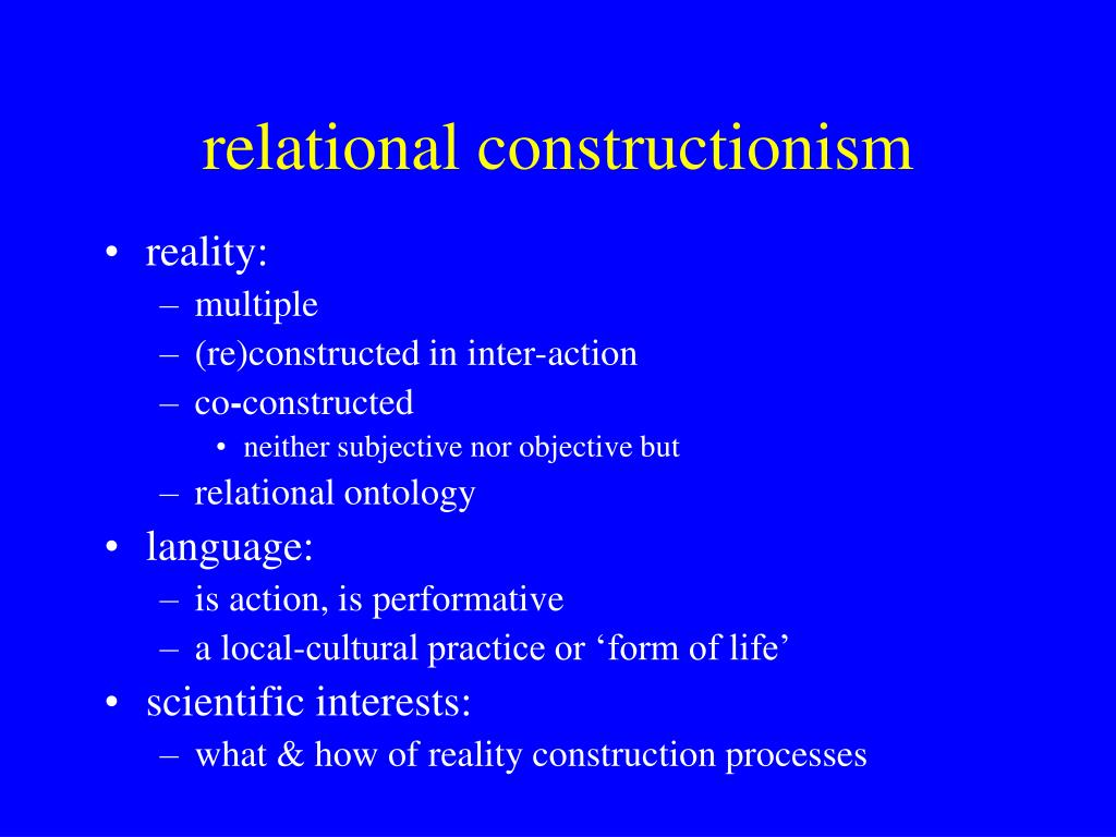 relational constructionism
