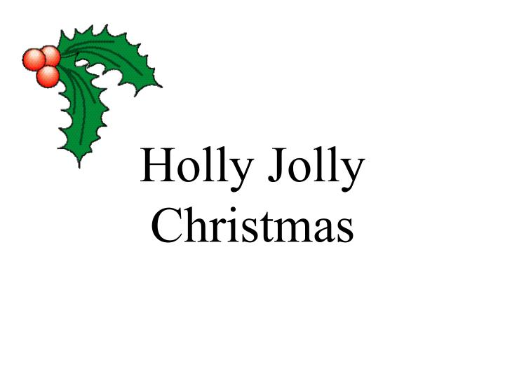 holly jolly christmas n.