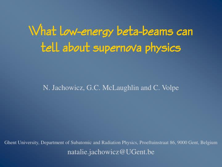 what low energy beta beams can tell about supernova physics n.