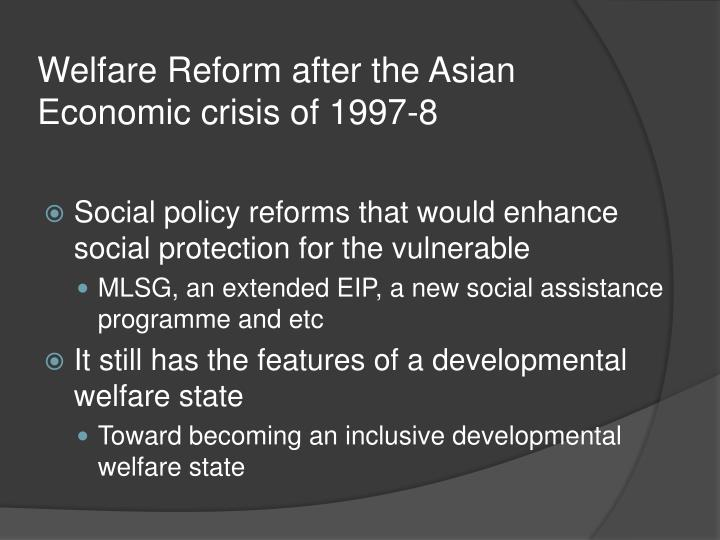 an overview of the 1997 asian economic crisis Overview the asian miracle (pre-crisis scenario) what happened in thailand,indonesia south korea asian financial crisis 1997.