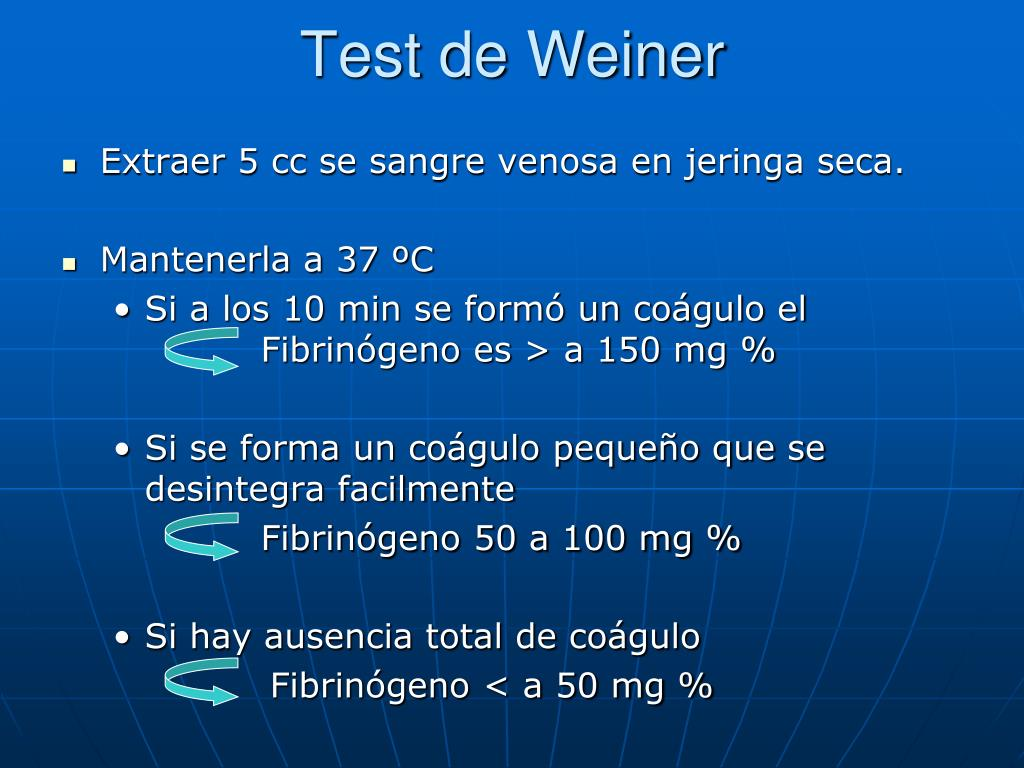 Test de Weiner