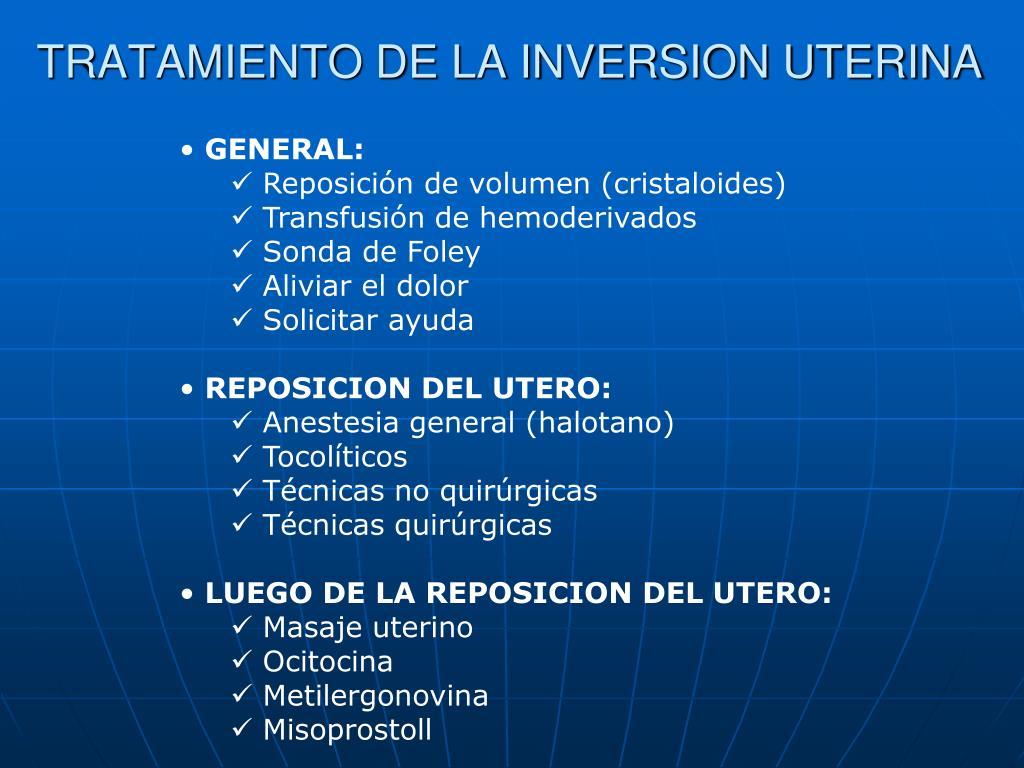 TRATAMIENTO DE LA INVERSION UTERINA