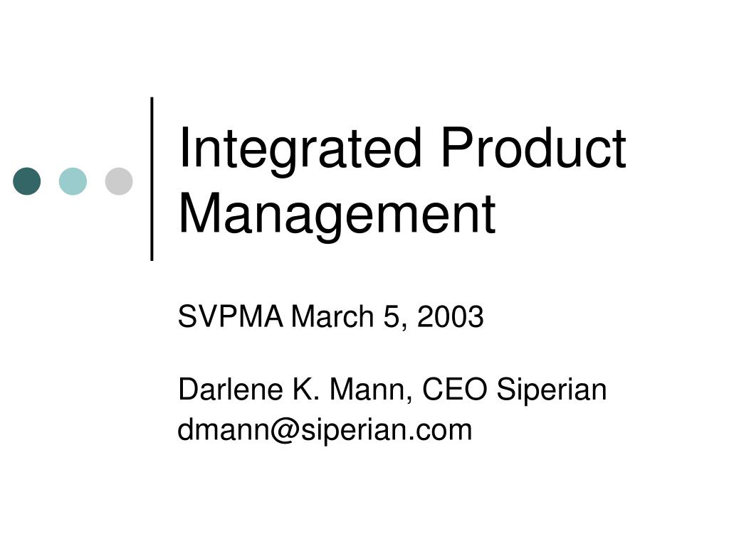 integrated product management l.