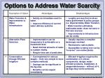 options to address water scarcity21