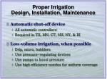 proper irrigation design installation maintenance24