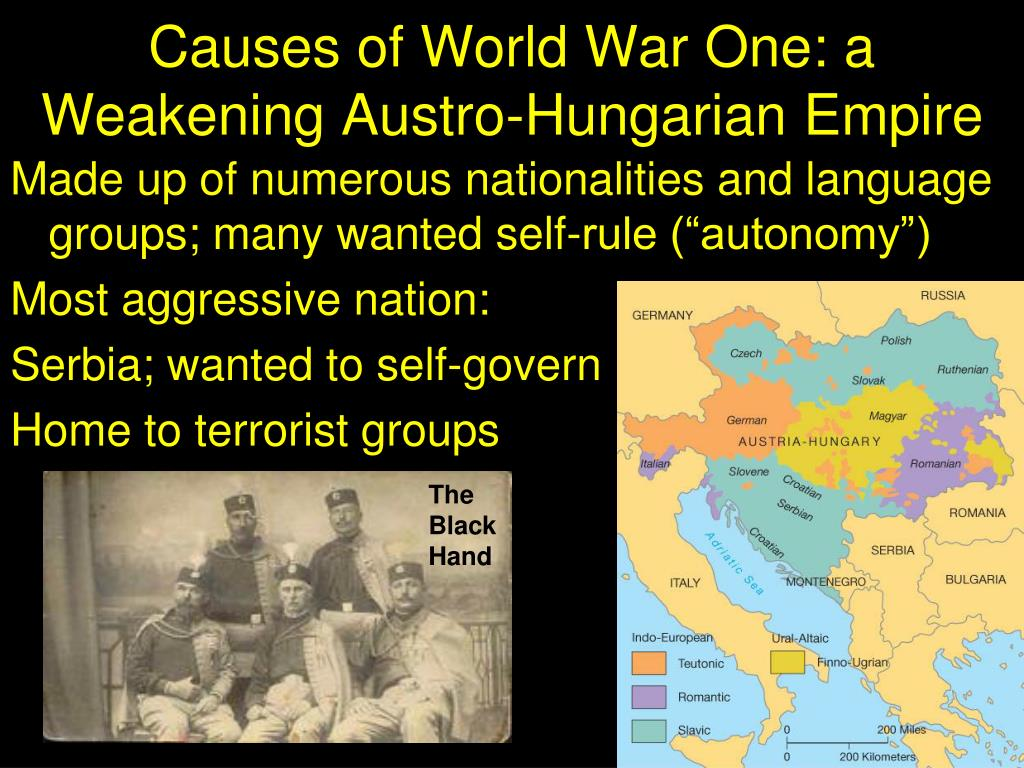 Causes of World War One: a Weakening Austro-Hungarian Empire
