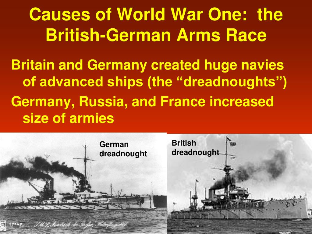 Causes of World War One:  the British-German Arms Race
