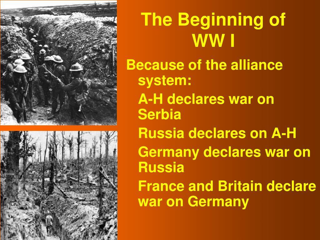 The Beginning of WW I