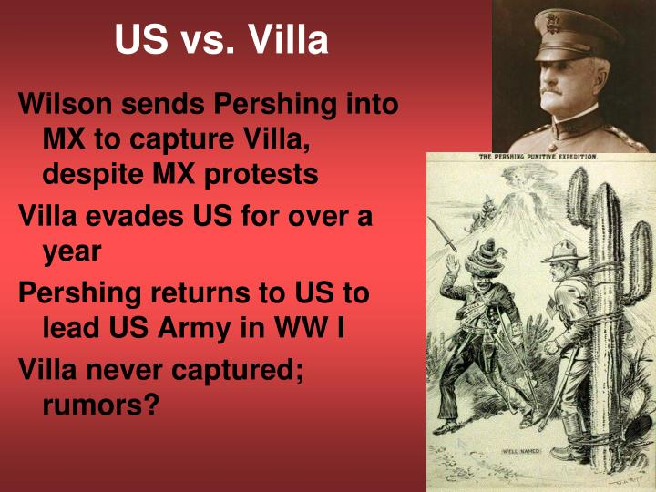 Year Of Pershing Vs Villa