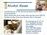 alcohol abuse