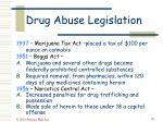 drug abuse legislation38