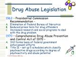 drug abuse legislation39
