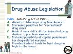 drug abuse legislation46