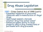 drug abuse legislation48