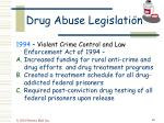 drug abuse legislation49