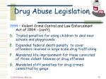 drug abuse legislation50