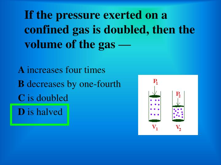 an experiment determining the relationship between the pressure and the volume of a confined gas The goal of this project is to measure the relationship between the volume of a gas volume of a gas at constant temperature gas in this experiment pressure.