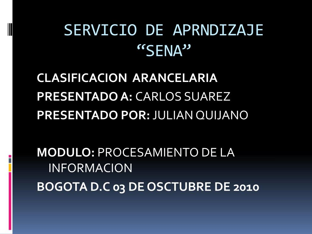 "SERVICIO DE APRNDIZAJE ""SENA"""