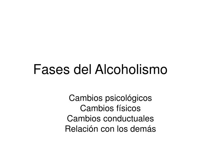 fases del alcoholismo n.