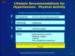 lifestyle recommendations for hypertension physical activity