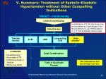 v summary treatment of systolic diastolic hypertension without other compelling indications