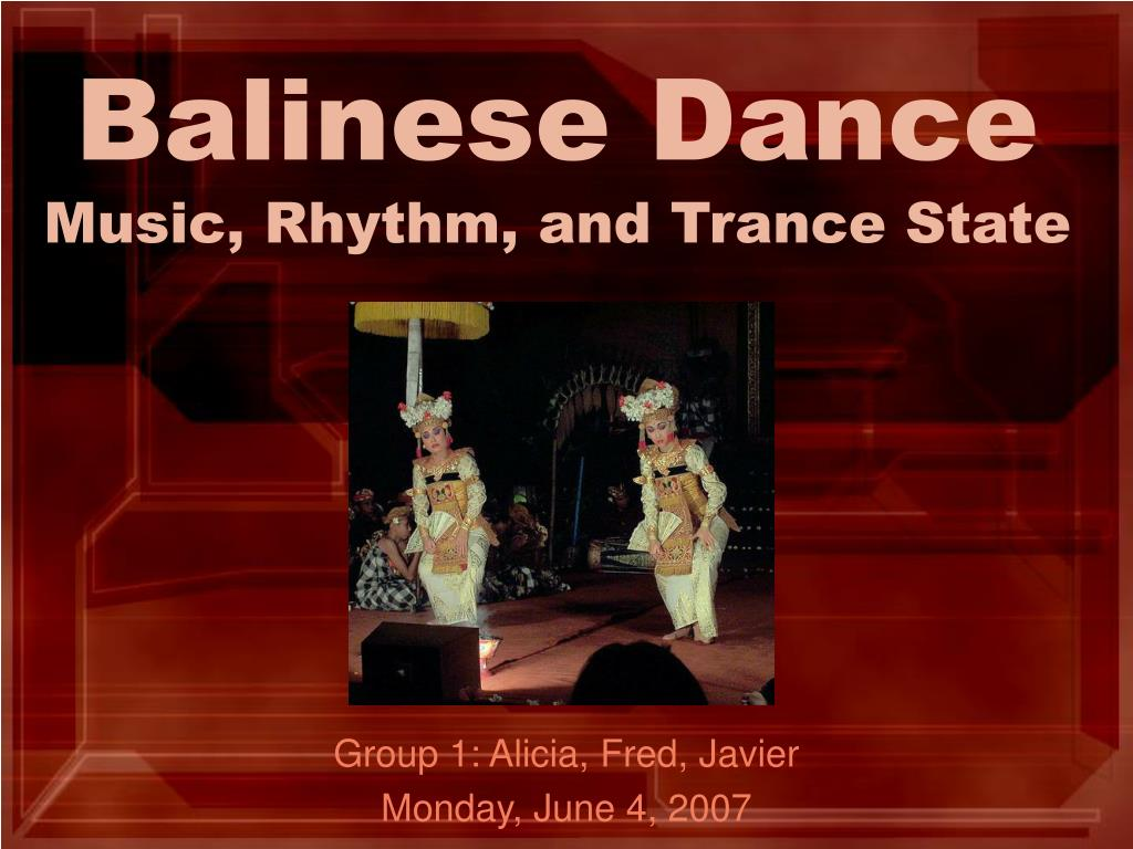 balinese dance music rhythm and trance state l.