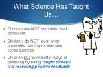 what science has taught us