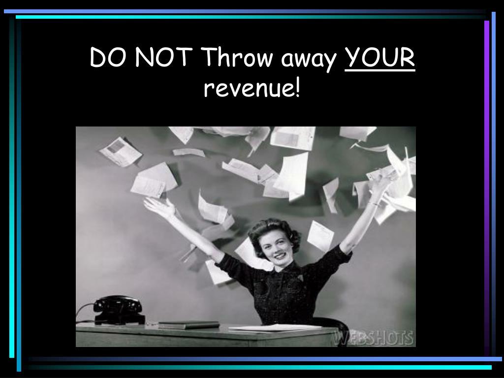 DO NOT Throw away