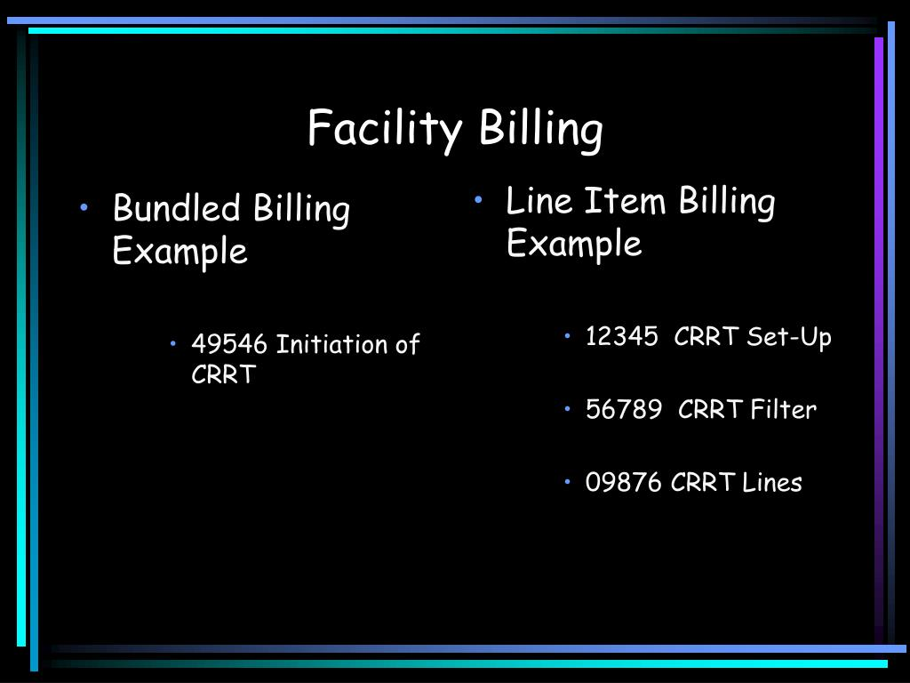 Line Item Billing Example
