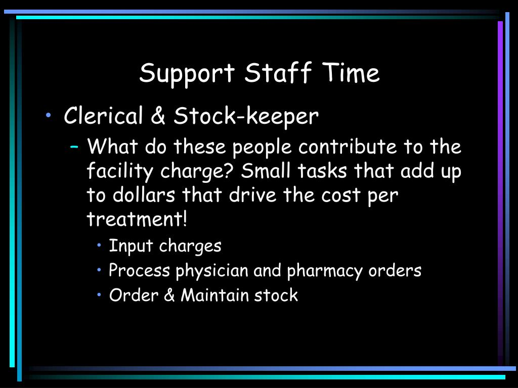 Support Staff Time