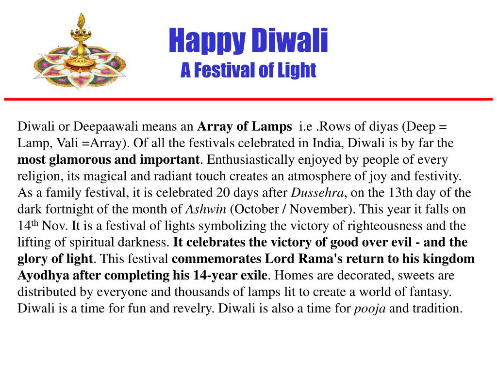 happy diwali a festival of light l.
