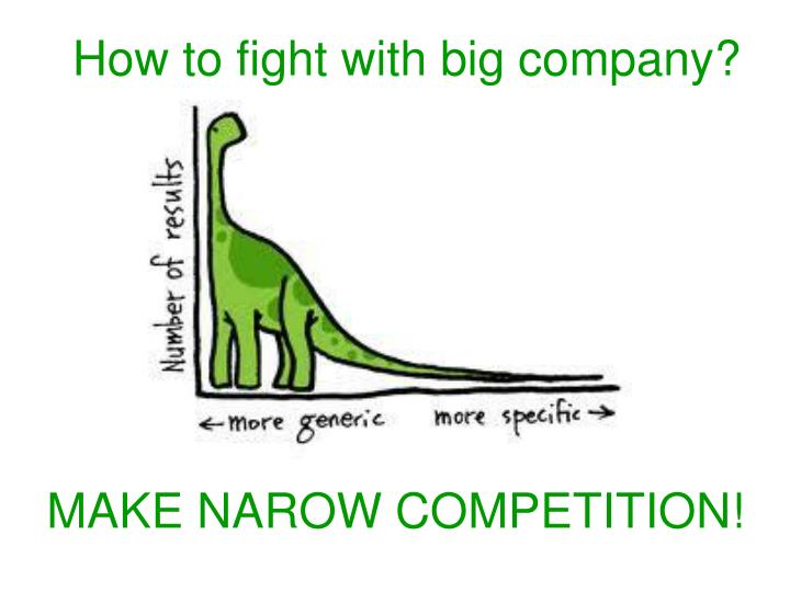 how to fight with big company n.