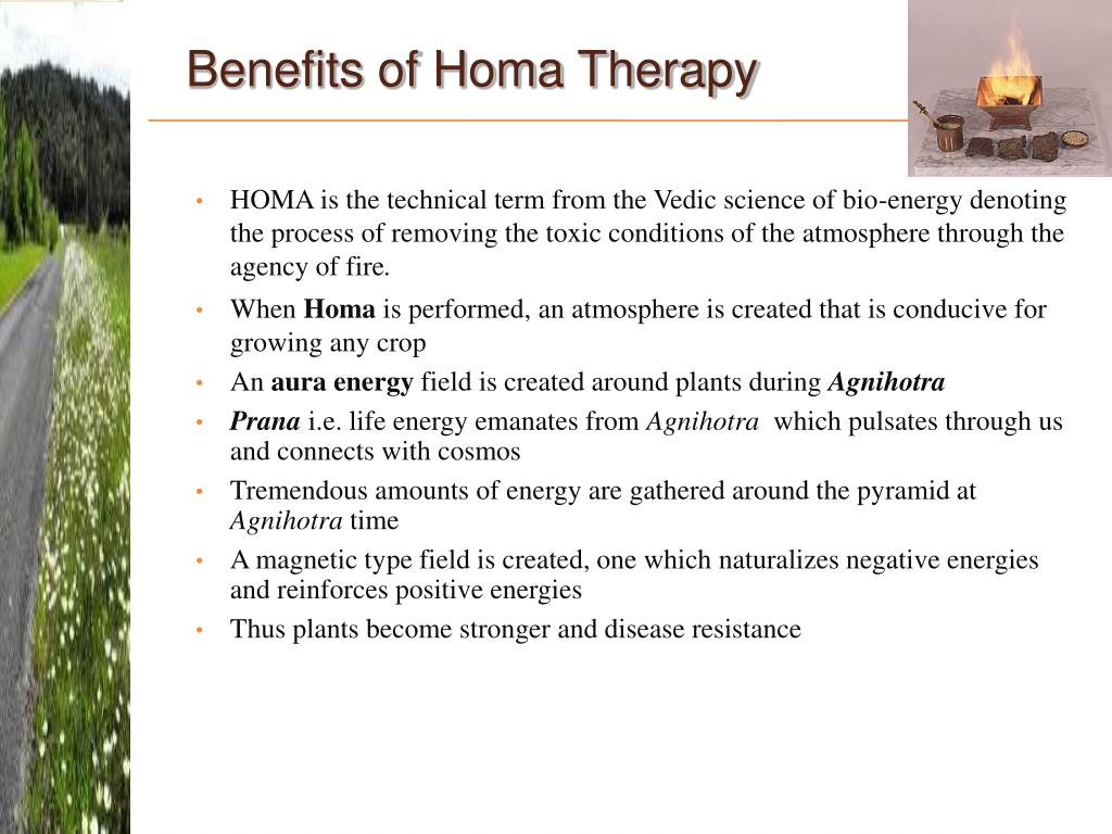 Benefits of Homa Therapy