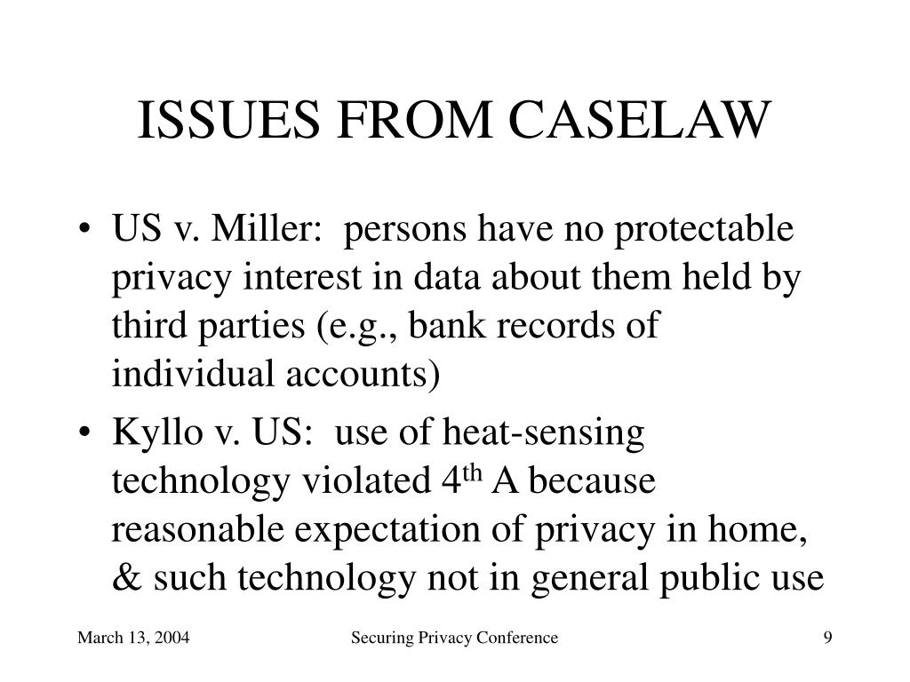 ISSUES FROM CASELAW