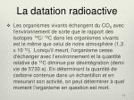 la datation radioactive
