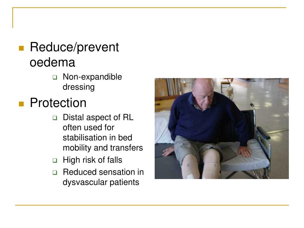 Reduce/prevent oedema