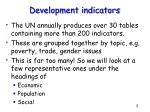 development indicators3