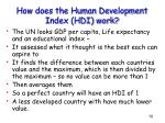 how does the human development index hdi work