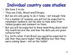 individual country case studies