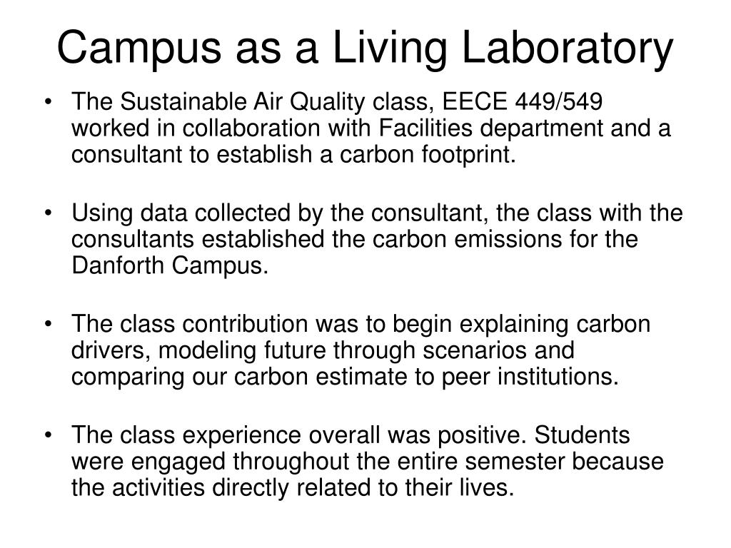 Campus as a Living Laboratory