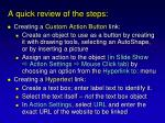 a quick review of the steps5