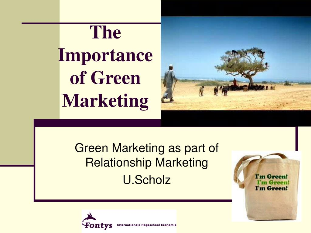the importance of green marketing l.