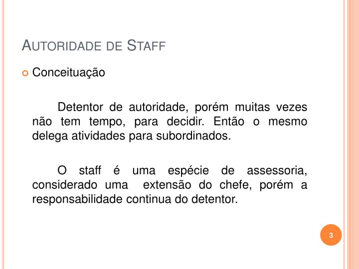 Autoridade de staff